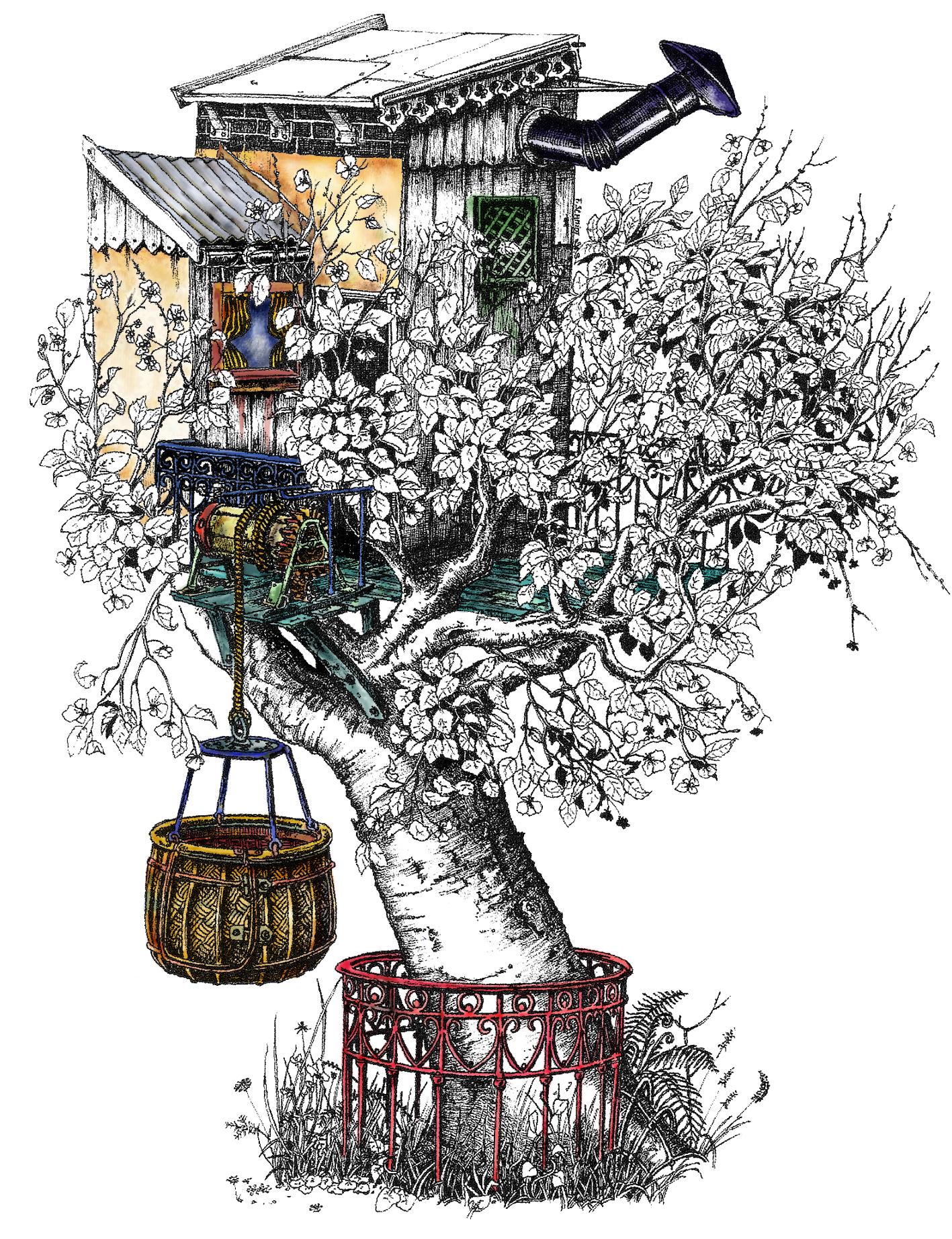 Jardins, gloriettes et cabanes perchées